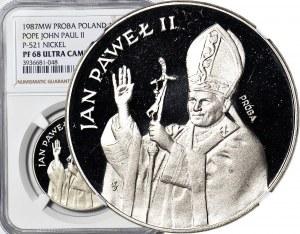 10.000 złotych 1987, Jan Paweł II, PRÓBA, nikiel