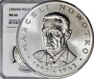20 złotych 1983, Nowotko, najrzadszy rocznik, menniczy