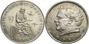 Austria, Zestaw dwóch monet srebrnych 2 szylingi, mennicze