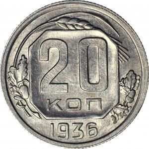 ZSRR, 20 kopiejek 1936, skrętka 140 stopni
