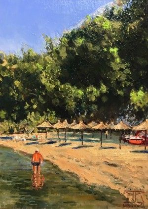 Krzysztof Kargol, Wczesnym rankiem na plaży, 2019