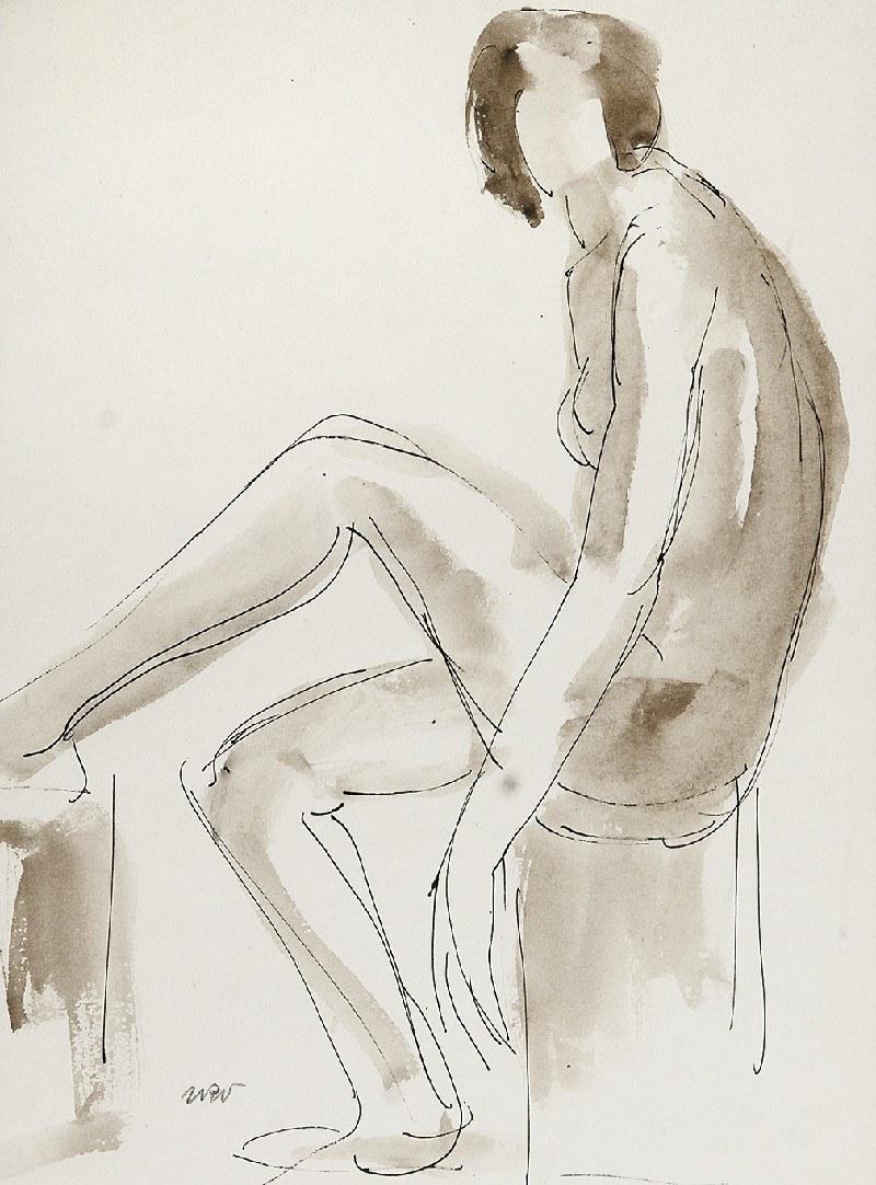Wojciech Weiss, Akt siedzącej kobiety, 1913