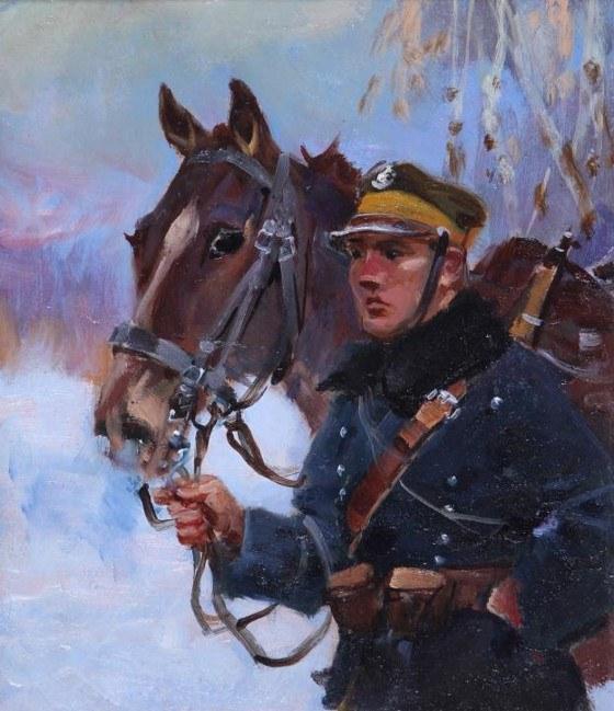 Jerzy Kossak, Ułan z koniem