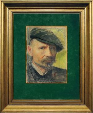 Wyczółkowski Leon, AUTOPORTRET W CYKLISTÓWCE, ok. 1900