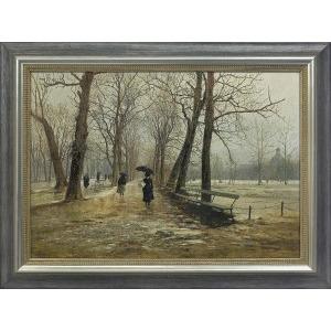 Gierymski Aleksander, OGRÓD SASKI, 1887