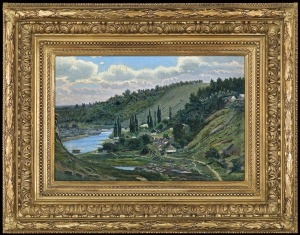 Gierymski Aleksander, WIDOK ZNAD JEZIORA OSSIACH, 1886