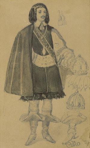 Matejko Jan, KRÓL JAN KAZIMIERZ WAZA, ok. 1856