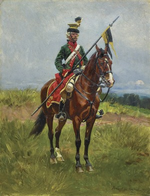Kossak Wojciech, UŁAN SPOD SAVONY, 1891