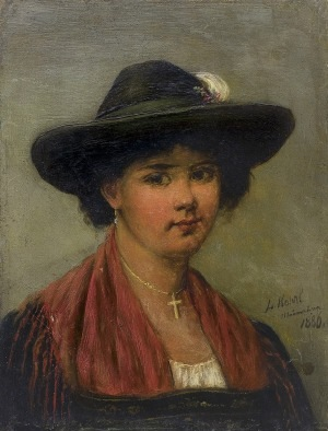 Kohrl  Ludwig , DZIEWCZYNA W KAPELUSZU, 1886