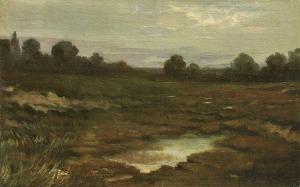 Kochanowski Roman, PEJZAŻ ZNAD ROZLEWISKA, ok. 1880