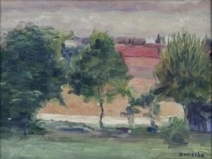 Rajmund KANELBA (1897-1960), Motyw z zabudowaniami