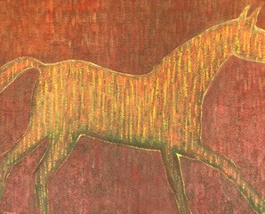 Jolanta Johnsson, Yellow horse, 2013r.