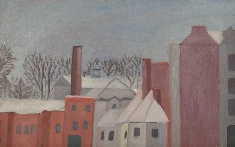 Leonard PĘKALSKI (1896 GRÓJEC-1944 WARSZAWA), Pejzaż z przedmieścia