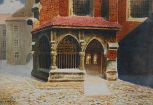 Stanisław FABIJAŃSKI (1865-1947), Przedsionek kościoła św. Barbary w Krakowie
