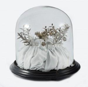 Wianek na srebrne wesele z gałązkami do butonierki z Pomorza Zachodniego