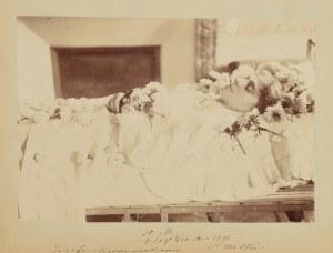 Helena MICKIEWICZÓWNA (1864-1896), córka Władysława Mickiewicza i Heleny z Malewskich, wnuczka Adama Mickiewicza - Portret na łożu śmierci ,  [Paryż?] 1896