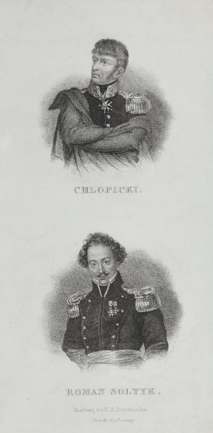 Carl MAYER, Dwa portrety przywódców powstania listopadowego: Józef CHŁOPICKI (1771-1854) i Romann SOŁTYK (1791-1843)