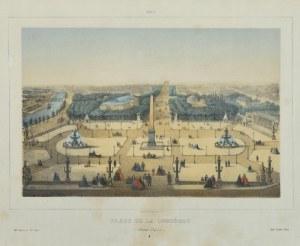 RIVIERE, CHARLES, litograf Maison MARTINET, Plac de La Concorde