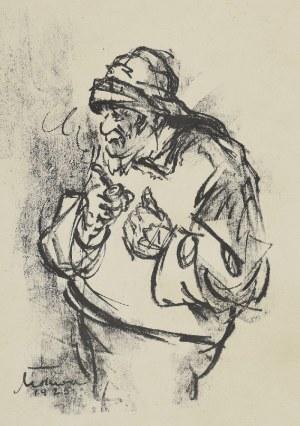 Marian MOKWA (1889-1987), Rybak z fajką, 1925
