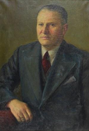 Wacław DOBROWOWSKI (1890-1969), Portret mężczyzny w garniturze, 1937