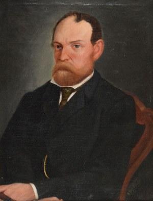M. ROPOWSKI, Portret mężczyzny z cygarem