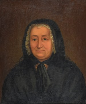 Artysta niezidentyfikowany, Portret kobiety w czepcu, XIX