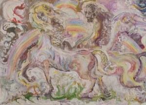 Zdzisław LACHUR (1920-2007), Konie i jeźdźcy, 1991
