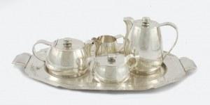 Bruno WISKEMANN (czynny od ok. 1870), Komplet do kawy i herbaty z tacą