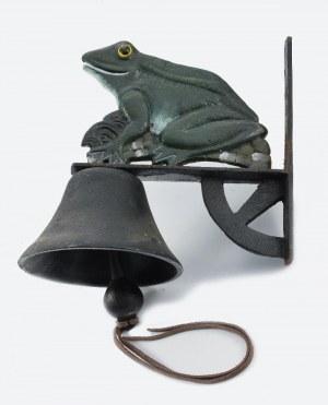 Gong do furty z ozdobą w formie żabki uśmiechniętej