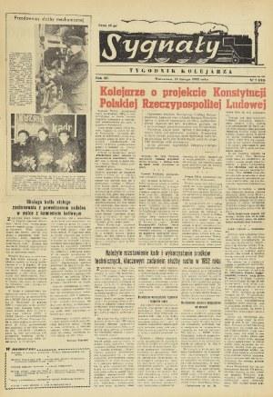 Sygnały - tygodnik kolejarza, rocznik 1952 we wspólnej oprawie
