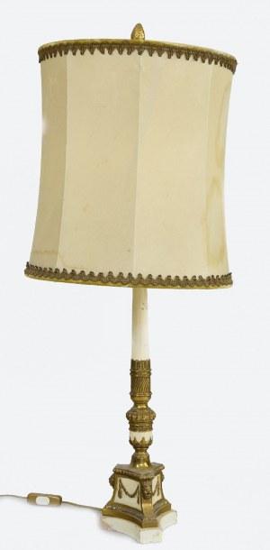 Lampa gabinetowa z abażurem