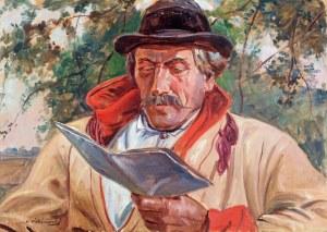 Wincenty Wodzinowski (1866 Igołomnia k. Miechowa - 1940 Kraków), Błażej Czepiec z Bronowic, przed 1927 r.