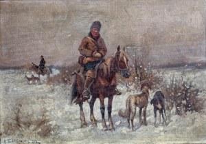 Adam Setkowicz (1875 Kraków - 1945 tamże), Polowanie, 1919 r.
