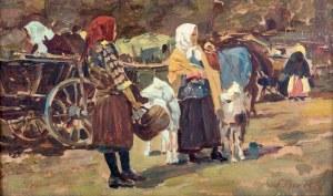 Frantisek Mrazek (1876-1933), Scena rodzajowa - na targu