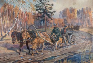Jan Erazm Kotowski (1885 Opatkowiczki k. Pińczowa - 1960 Milanówek), Zaprzęg