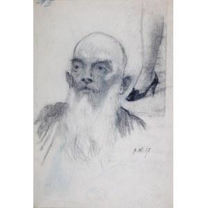 Stanisław Sawiczewski (1866 Kraków - 1943 Warszawa), Portret mężczyzny z brodą, 1937 r.