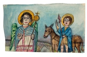 Nikifor Krynicki (1895 Krynica-1968 Folusz), Anioł i Święty