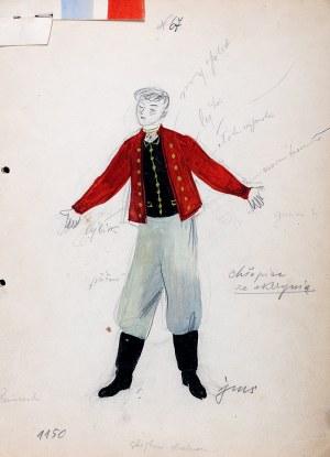 Jan Marcin Szancer (1902 Kraków-1973 Warszawa), Projekt kostiumu męskiego