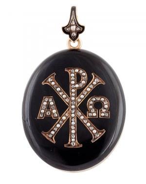 Medalion z chrystogramem, poł. XIX w.