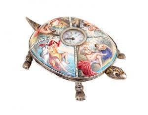Zegarek w formie żółwia, Austro-Węgry (Wiedeń), 2 poł. XIX w.