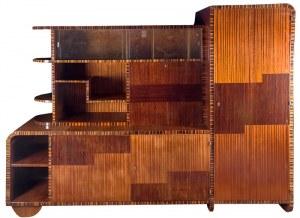 Szafa kredensowa, art déco, l. 1920–1930