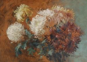 MATYLDA MELENIEWSKA (1869-1931), Chryzantemy, 1925