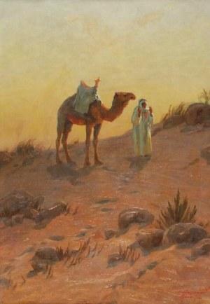 ALEKSANDER LASZENKO (1883-1944), Na pustyni w okolicach Mann w Jordanii