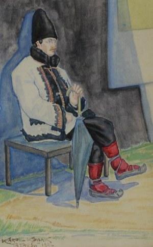 KAROL KOSSAK (1896-1975), Hucuł z Tatarowa, 1922
