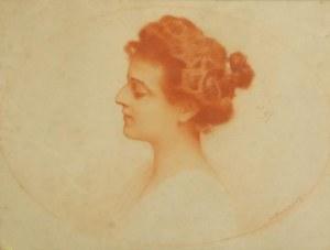 PIOTR STACHIEWICZ (1858-1938), Popiersie kobiety, ok. 1910