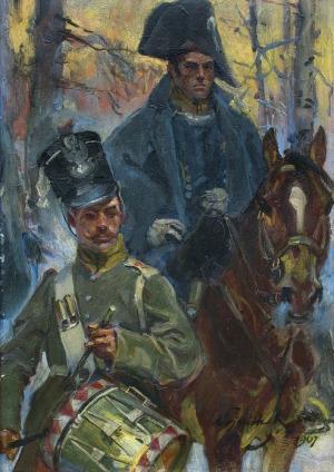 Kossak Wojciech, Z POLA BITWY O OLSZYNKĘ GROCHOWSKĄ, 1907
