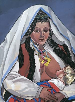 Stryjeńska Zofia, MACIERZYŃSTWO, LATA 40. XX W.