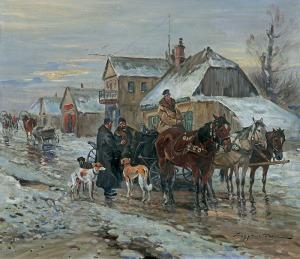 Wasilewski Czesław (I. Zygmuntowicz), ULICZKA W MIASTECZKU