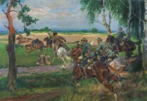 Kossak Wojciech, POGOŃ KONNICY ZA BOLSZEWIKAMI, 1919