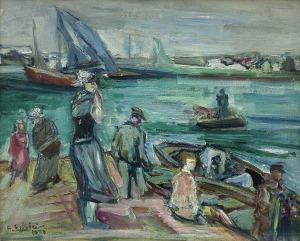 Epstein Henryk, W PORCIE. NA PORTOWYM NABRZEŻU, 1930